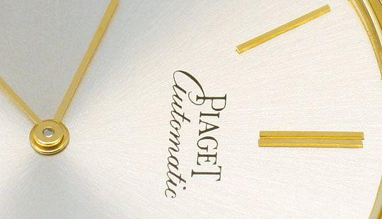 Foto 3, Welt-Flachste Automatik Piaget Herren-Uhr 18K Gelb-Gold, U2168