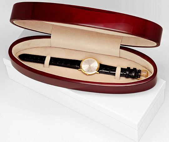 Foto 5, Welt-Flachste Automatik Piaget Herren-Uhr 18K Gelb-Gold, U2168