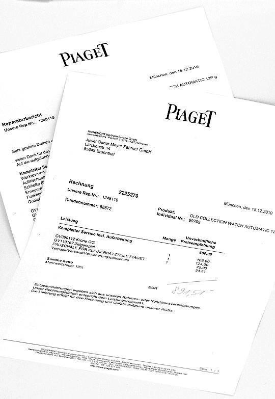 Foto 6, Welt-Flachste Automatik Piaget Herren-Uhr 18K Gelb-Gold, U2168