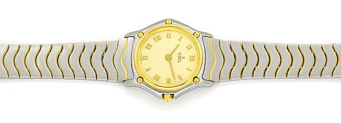 Foto 1 - Ebel Classic Mini Damen Armbanduhr Stahlgold Wellenband, U2172