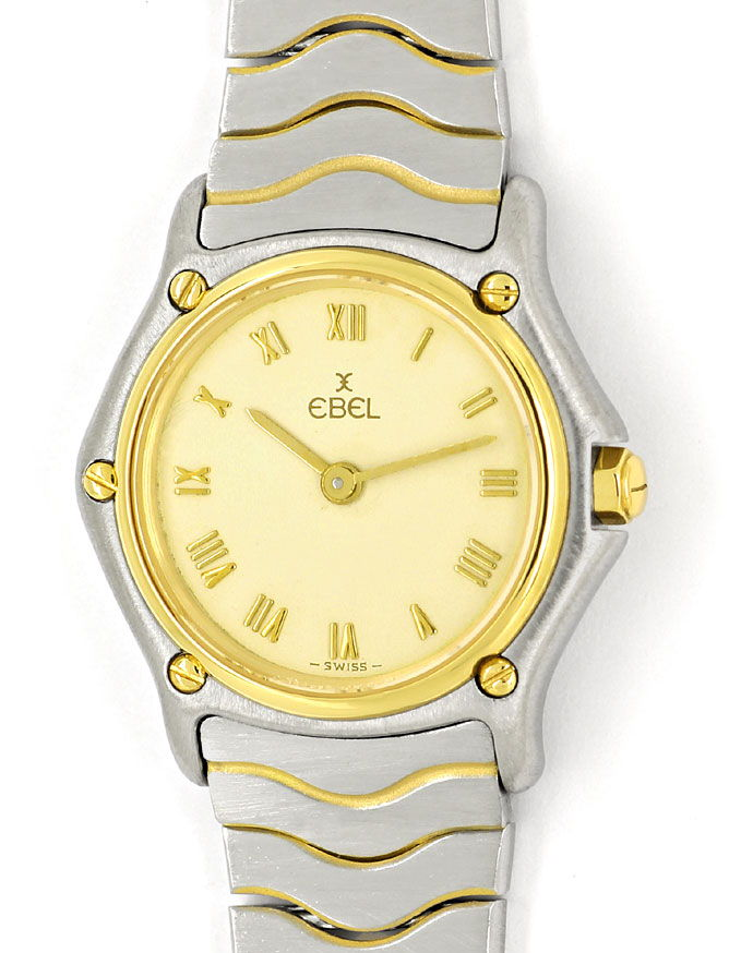 Foto 2 - Ebel Classic Mini Damen Armbanduhr Stahlgold Wellenband, U2172