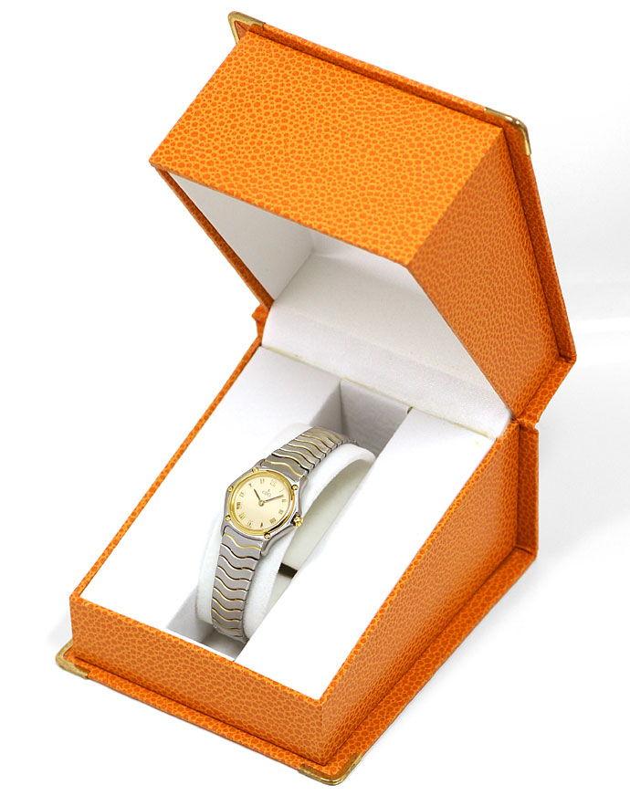 Foto 6 - Ebel Classic Mini Damen Armbanduhr Stahlgold Wellenband, U2172