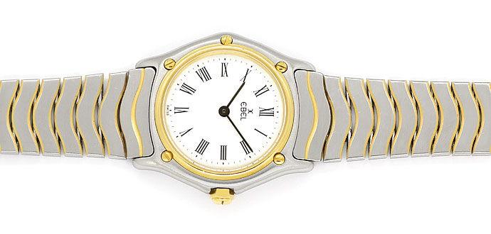 Foto 1 - Ebel Classic Damen Armbanduhr in Stahl Gold, Wellenband, U2175