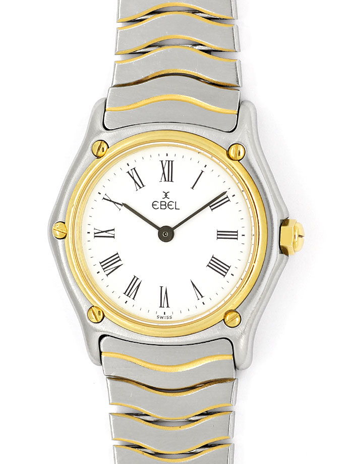 Foto 2 - Ebel Classic Damen Armbanduhr in Stahl Gold, Wellenband, U2175