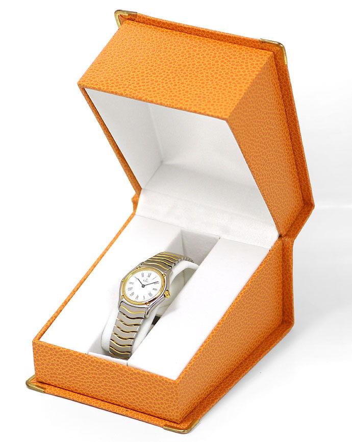 Foto 5 - Ebel Classic Damen Armbanduhr in Stahl Gold, Wellenband, U2175