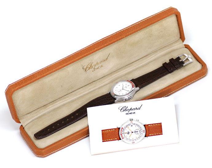 Foto 4 - Chopard Mille Miglia Chronograph Herren Uhr Stahl Kroko, U2176