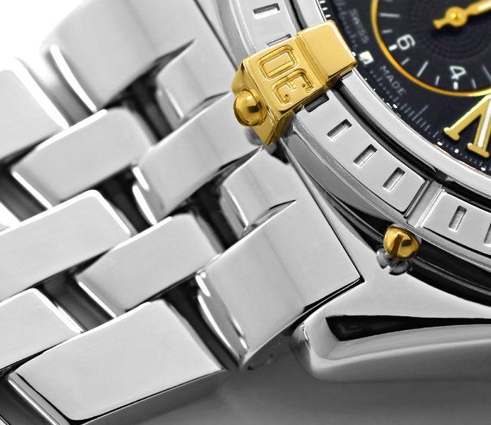 Foto 4 - Breitling Crosswind Stahlgold Auto Chronograf Pilotband, U2177