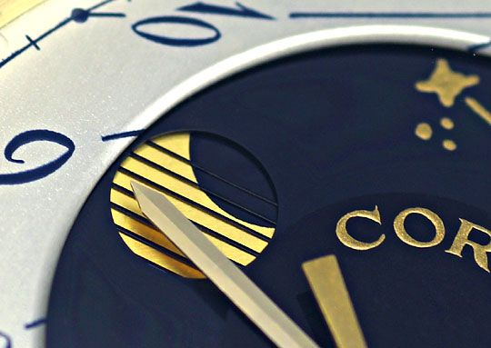 Foto 3 - Corum Moontime Armbanduhr Mondphase, 18K Gelbgold Kroko, U2178