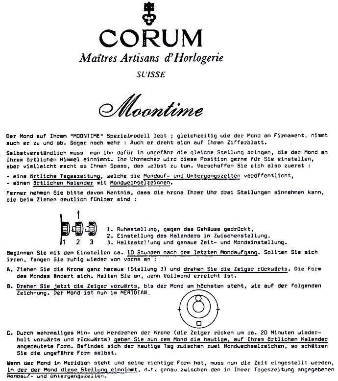 Foto 8 - Corum Moontime Armbanduhr Mondphase, 18K Gelbgold Kroko, U2178