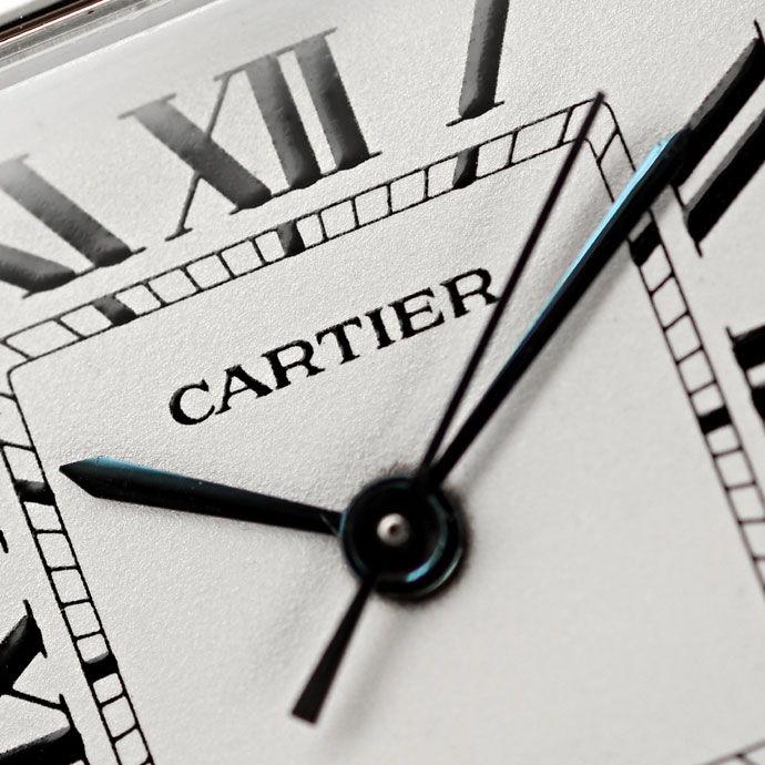 Foto 3 - Santos Galbee de Cartier Herren Armbanduhr in Stahlgold, U2180