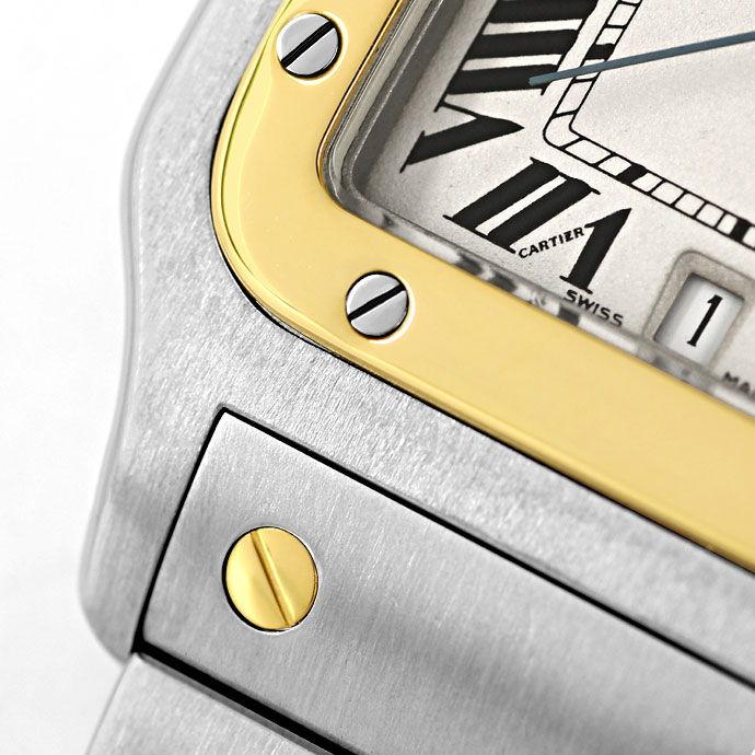 Foto 4 - Santos Galbee de Cartier Herren Armbanduhr in Stahlgold, U2180