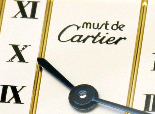 Foto 3, Must.de Cartier Tank Vermeil Silber Vergoldet Damen-Uhr, U2182
