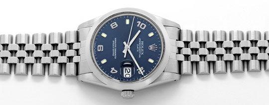Foto 1, Rolex Date Oyster Perpetual Edelstahl Herren-Armbanduhr, U2183
