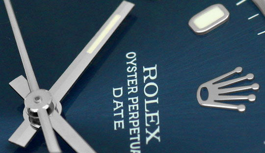 Foto 3 - Rolex Date Oyster Perpetual Edelstahl Herren Armbanduhr, U2183