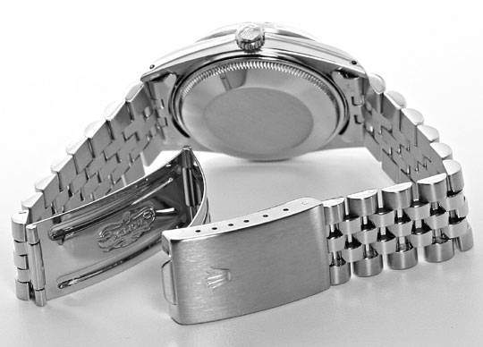 Foto 5 - Rolex Date Oyster Perpetual Edelstahl Herren Armbanduhr, U2183