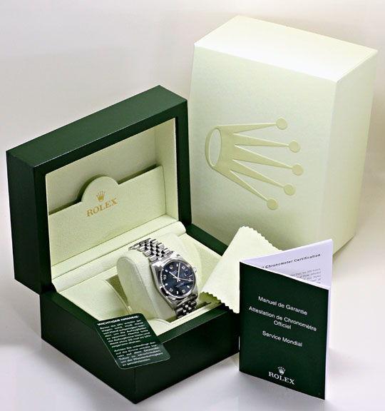 Foto 6 - Rolex Date Oyster Perpetual Edelstahl Herren Armbanduhr, U2183