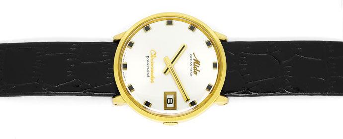 Foto 1 - Mido Oceanstar Powerwind Chronometer Herrenuhr 14K Gold, U2187
