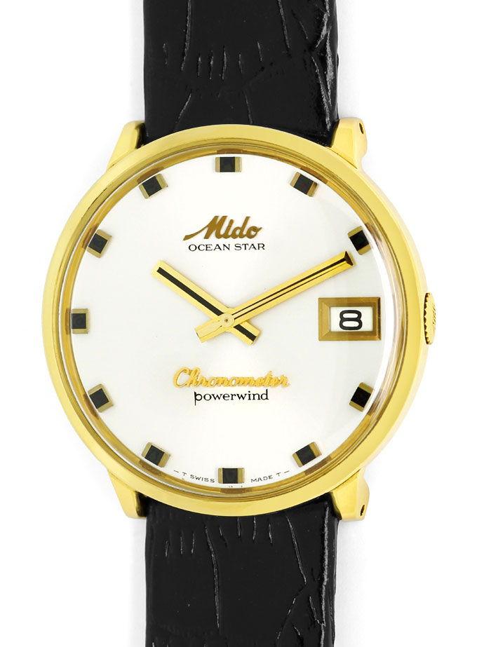 Foto 2 - Mido Oceanstar Powerwind Chronometer Herrenuhr 14K Gold, U2187