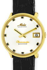 Mido Oceanstar Powerwind Chronometer Herrenuhr 14K Gold