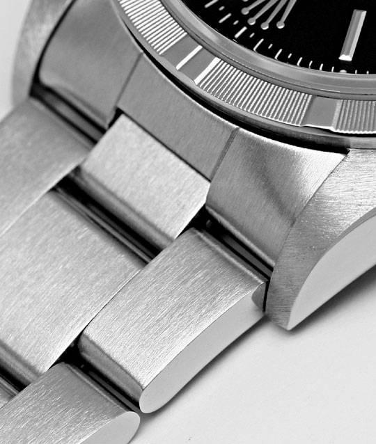 Foto 4, Rolex Date Herren-Armbanduhr Oyster Perpetual Edelstahl, U2196