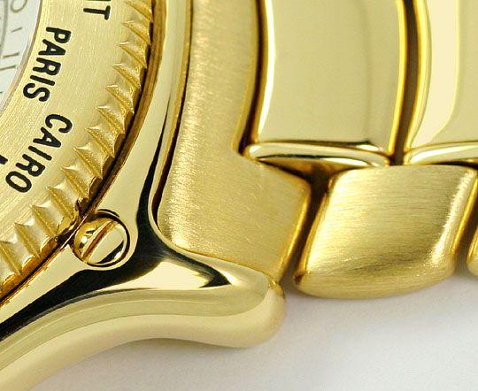 Foto 4 - Ebel Voyager Automatik Tag Nacht Weltzeit Uhr Gelb Gold, U2201