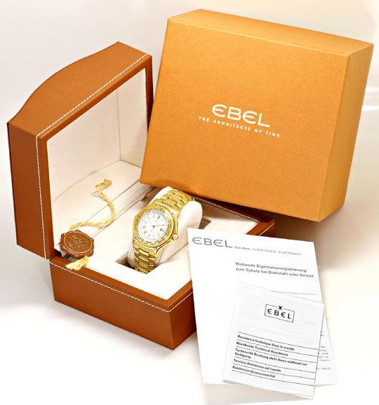 Foto 8, Ebel Voyager Automatik Tag-Nacht Weltzeit-Uhr Gelb-Gold, U2201