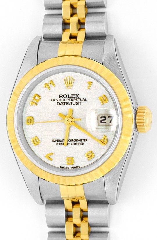 Foto 2 - Ungetragene Rolex Datejust Damenuhr Stahlgold Automatik, U2204