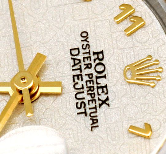 Foto 3 - Ungetragene Rolex Datejust Damenuhr Stahlgold Automatik, U2204