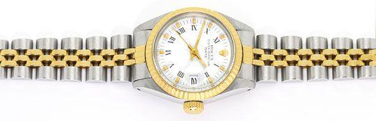 Foto 1 - Rolex Lady Date Stahl Gold, Automatik, Damen Armbanduhr, U2206