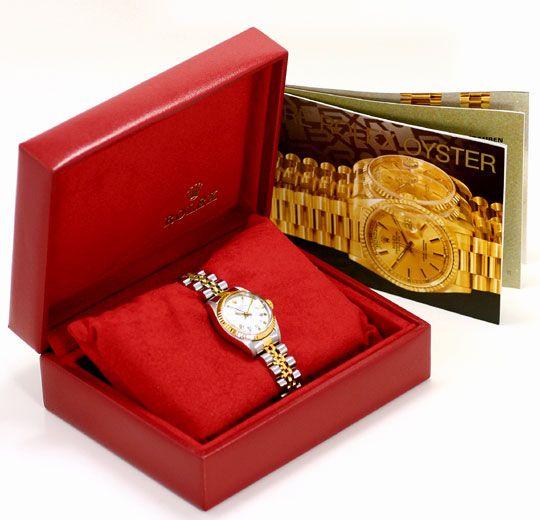 Foto 6 - Rolex Lady Date Stahl Gold, Automatik, Damen Armbanduhr, U2206