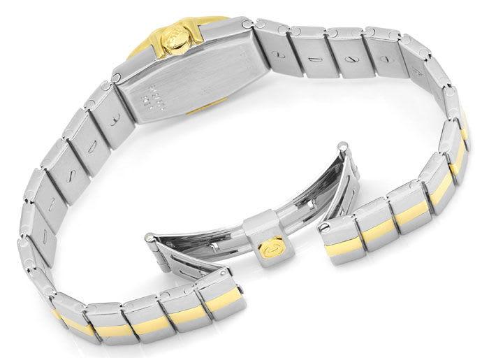 Foto 5 - Chopard St.Moritz Stahl Gold Damenuhr mit Diamantbesatz, U2208