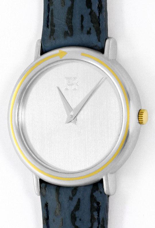 Foto 2, Herren-Armbanduhr Extrem massiv Platin Gold, Neuzustand, U2217