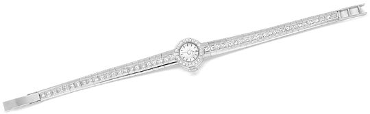 Foto 1, Ebel Damenuhr Diamant-Lünette Diamant-Armband Weissgold, U2219