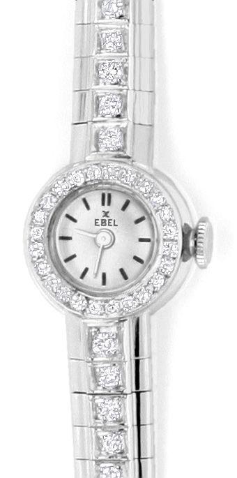 Foto 2, Ebel Damenuhr Diamant-Lünette Diamant-Armband Weissgold, U2219