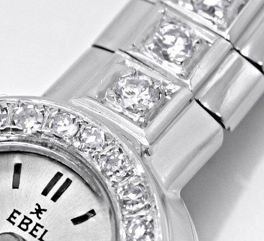 Foto 4, Ebel Damenuhr Diamant-Lünette Diamant-Armband Weissgold, U2219