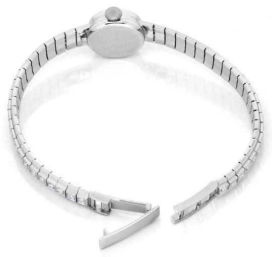 Foto 5, Ebel Damenuhr Diamant-Lünette Diamant-Armband Weissgold, U2219
