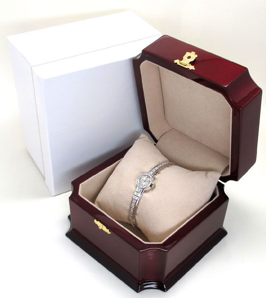 Foto 6, Ebel Damenuhr Diamant-Lünette Diamant-Armband Weissgold, U2219