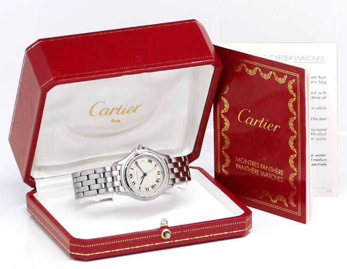 Foto 6 - Cartier Panthere Cougar Herren Armbanduhr aus Edelstahl, U2220
