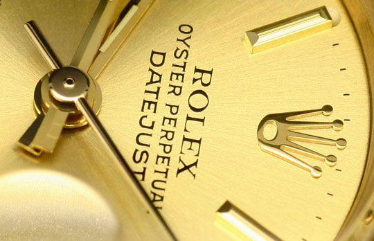 Foto 3, Rolex Datejust Borke Oyster Perpetual Gelbgold Damenuhr, U2222