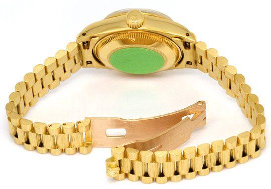 Foto 5, Rolex Datejust Borke Oyster Perpetual Gelbgold Damenuhr, U2222
