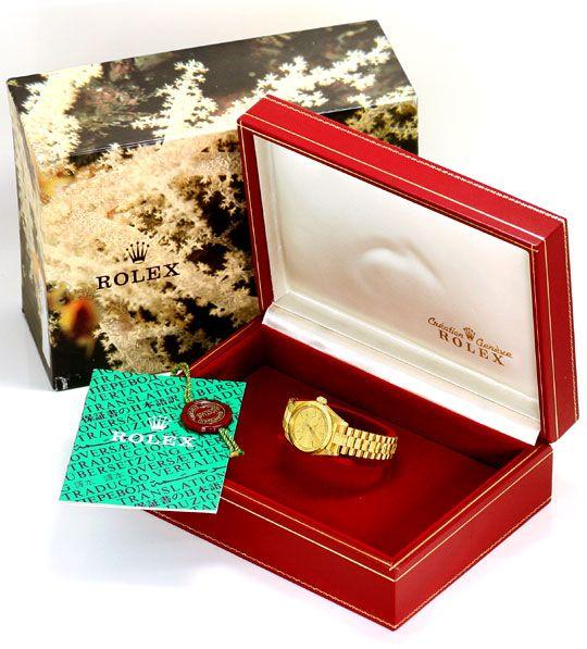 Foto 6, Rolex Datejust Borke Oyster Perpetual Gelbgold Damenuhr, U2222