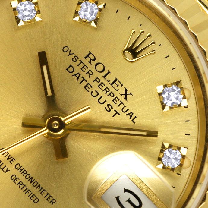 Foto 3 - Rolex Datejust Gelbgold Damen Uhr Diamanten Zifferblatt, U2224