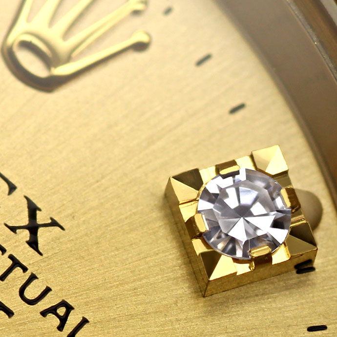 Foto 4 - Rolex Datejust Gelbgold Damen Uhr Diamanten Zifferblatt, U2224
