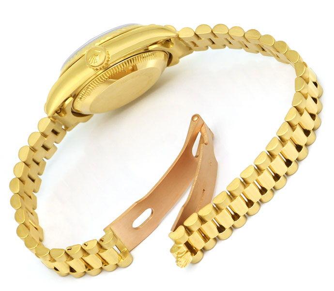 Foto 6 - Rolex Datejust Gelbgold Damen Uhr Diamanten Zifferblatt, U2224