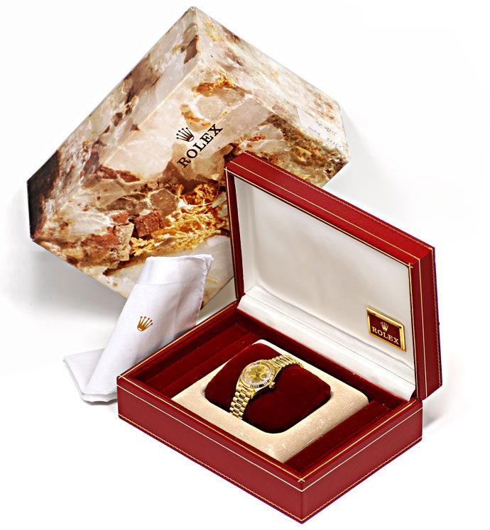Foto 8 - Rolex Datejust Gelbgold Damen Uhr Diamanten Zifferblatt, U2224
