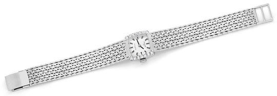 Foto 1, Damenarmbanduhr Anker 0,27 Diamanten 14 Karat Weissgold, U2227