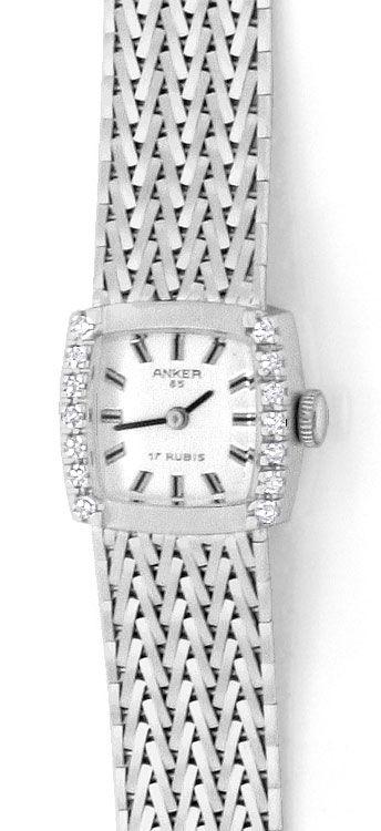 Foto 2, Damenarmbanduhr Anker 0,27 Diamanten 14 Karat Weissgold, U2227