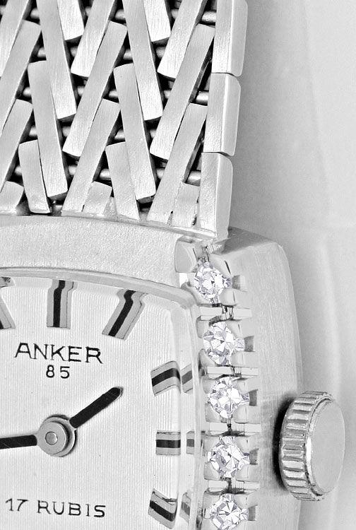 Foto 3, Damenarmbanduhr Anker 0,27 Diamanten 14 Karat Weissgold, U2227