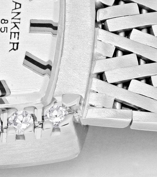 Foto 4, Damenarmbanduhr Anker 0,27 Diamanten 14 Karat Weissgold, U2227