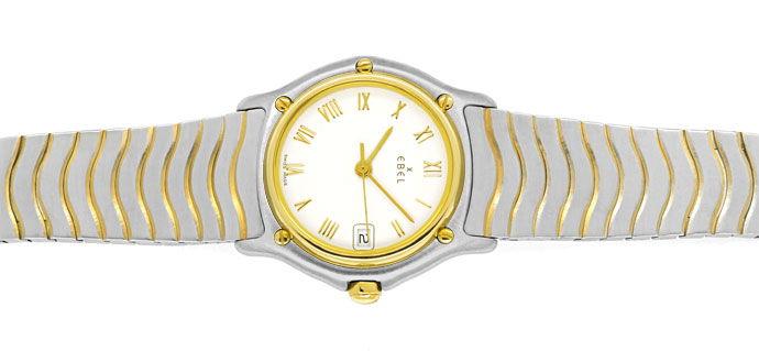 Foto 1 - Ebel Classic Wave Damen Armbanduhr mit Datum Stahl Gold, U2230